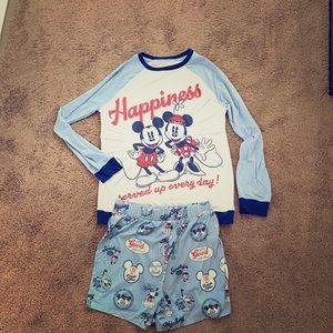 Mickey & Minnie Adult Sleepwear Size:S